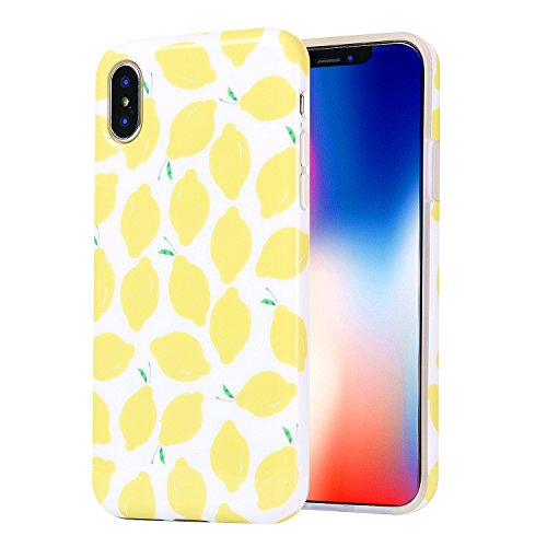 Adorable Protective Case for Apple iPhone X (2017)/ iPhone Xs (2018) - Summer Lemons on ()