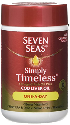 Seven Seas Simply Timeless Omega-3 Fish Oil Plus Cod Liver Oil (60 Capsules)