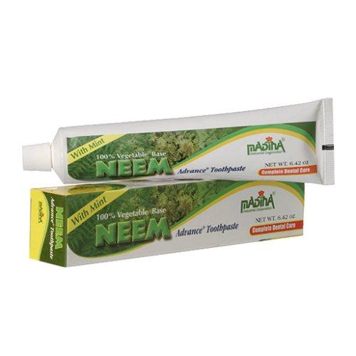 6 Tubes Madina Neem Toothpaste 100% Vegetable Base Flouride Free Advance Mint - Veggie Healthy