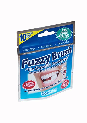 Fuzzy Brush Chew Able Toothbrush, 10 Ounce (Pack of 10)