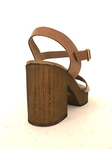 ZETA SHOES - Sandalias de vestir de Piel para mujer marrón