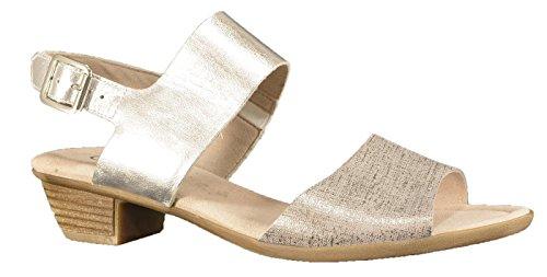 Gabor 42.474.91 - Sandalias de vestir de Piel para mujer Gris gris Plateado - plateado