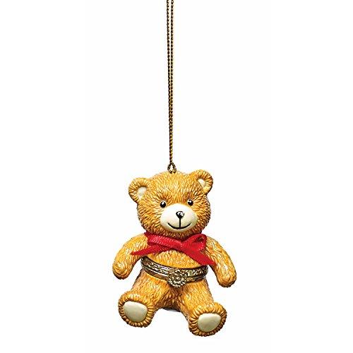 Bandwagon Christmas Decoration - Porcelain Surprise Ornaments Box - Teddy Bear