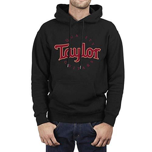 (IHOID Man Hooded Sweatshirt Taylor-Guitars-Logo- Fleece Long Sleeve)