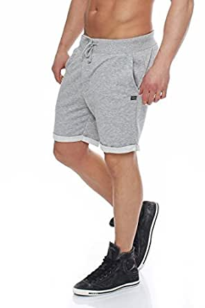 Jack & Jones Drawstring Short for Men - Light Grey Melange,XL