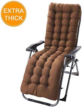 xivqiuny 61-inch Patio Chaise Lounger Cushion, Indoor Outdoor Chaise Lounger Cushions Rocking Chair Sofa Cushion Tatami Mat Window Seat Mattress Light Coffee