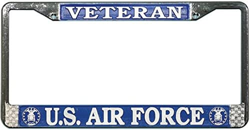 US UNITED STATES AIR FORCE MILITARY License Plate Frame Stainless