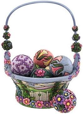 Enesco Jim Shore Heartwood CreekSpring Basket, Set 8 4009235