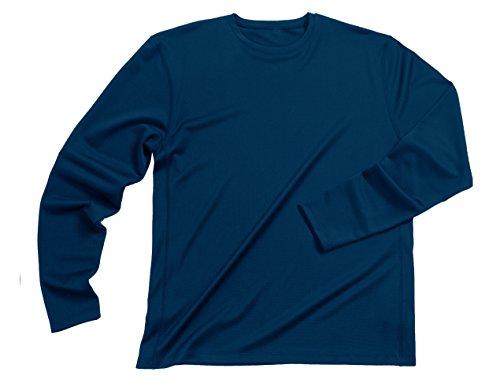Zorrel Long Sleeve Syntrel Popcorn Knit Tee (Cobalt) (Large)