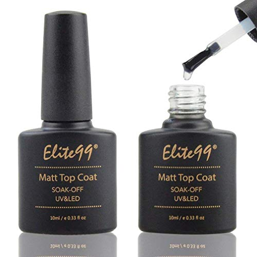Elite99 Matte Top Coat Soak Off UV LED Gel Polish Nail Art Matting Sealer Manicure 10ml (Best Matte Nail Polish Top Coat)