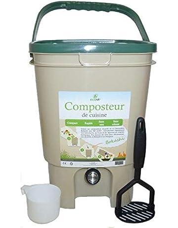 Ecovi kit0 C00001 Kit compostador de Cocina 20L + – Activador 1 kg, beigevert,