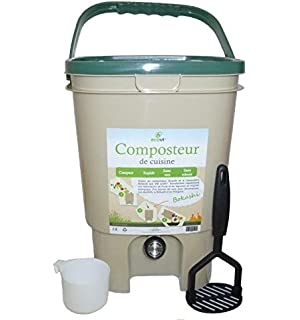 Skaza - mind your eco - Compostador para Cocina, Color Negro ...