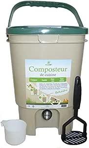 Ecovi kit0 C00001 Kit compostador de Cocina 20L + – Activador 1 kg ...