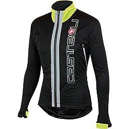 Castelli Confronto Jacket Black/Yellow Fluo, XL - Men\'s