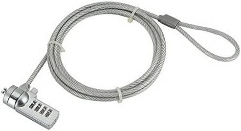 iggual IGG311417 Acero Inoxidable - Cable antirrobo (Cerradura con combinación, Acero, 4 mm, Acero Inoxidable, Registro de código/combinación)