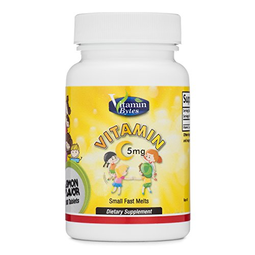 Vitamin c chewable tablets for kids ages 2+/ ultimate 5mg ascorbic acid fast melting tablets /100 servings/natural lemon flavored children's tablets/boost your kid's immune system - Kid Vits Multiple Vitamin