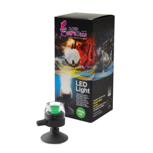 H2Show Green LED Submersible Spotlight for Aquariums suction cup mount included by Hydor USA, Inc.