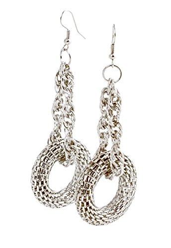 Bague en argent Fashion Boucles d'oreilles créoles Femme–Boucles d'Oreilles Pendantes Vintage geralin gioielli