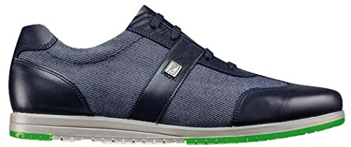 Golf Collection (FootJoy Casual Collection Spikeless Golf Shoes CLOSEOUT Women Midnight/Denim Fabric Medium 7.5)