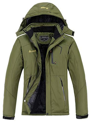 Moerdeng Men's Waterproof Ski Jacket Hooded