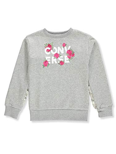 Converse Girls' Sweatshirt - Gray, 8-10 ()
