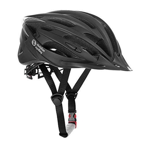 TeamObsidian Airflow Bike Helmet with in-Molded Reinforcing Skeleton for Added Protection - Adult Size, CPSC Safety Certified - Comfortable, Lightweight, Breathable