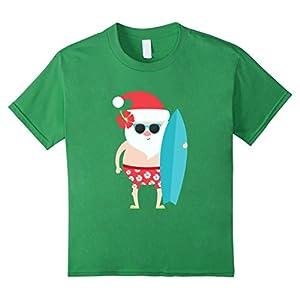 Kids Holiday Summer Christmas Santa Sunglasses Surfing Gift Shirt 10 Grass