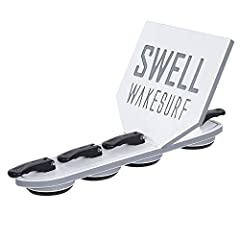 The Same Wakesurf Creator Tech of the 2.0, #1 Selling Wakesurf Product on AMAZON! The SWELL Wakesurf Creator Slim's design fits boats with less vertical clearance, only requiring 3.5 inches high by 14.75 inches long of flat surface. It will f...