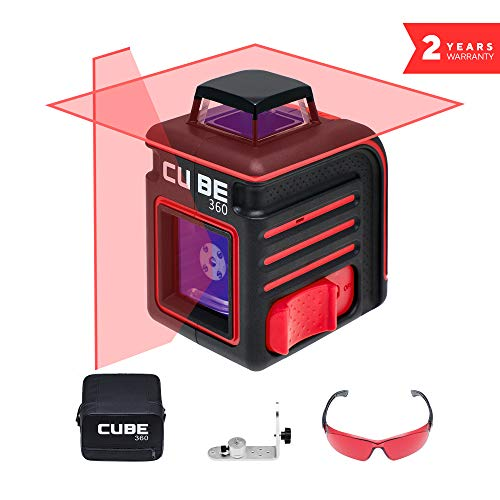 ADA Cube 360 Home Edition, Laser Level, Crossline Self-Leveling Laser Level, 20 Meters (65 feet) and 70 Meters (229 feet With Laser Detector) (А00444)
