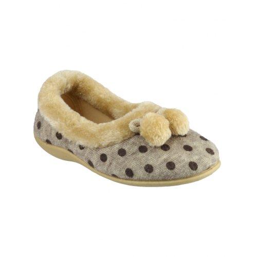 Pantofole Da Donna Mirak Narbonne Ballerina / Pantofole Da Donna Beige