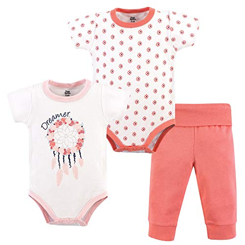 Yoga Sprout Baby Bodysuit and Pant 3 Piece Set, Dream Catcher, 6-9 Months (9M)