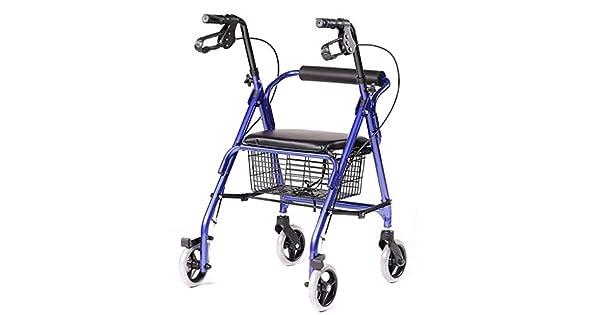 Amazon.com: Andador plegable de 4 ruedas con cesta de ...