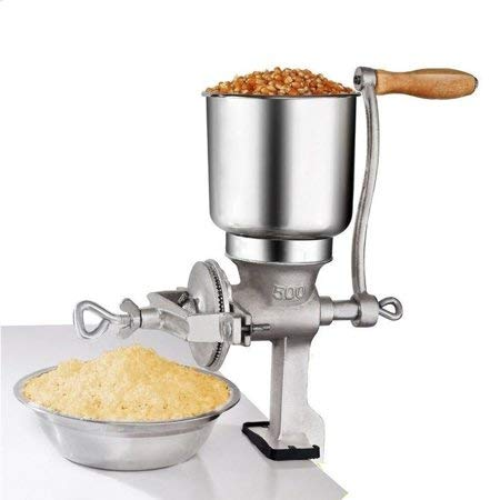 Premium Quality Cast Iron Hand Crank Manual Corn Grinder For Wheat Grains ()