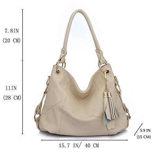 Satchel Top FiveloveTwo Beige Handbags Tote Bag Handle Women Purse Bag Shoulder Bags 7YYnxq5grB