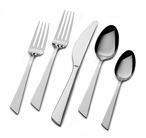 20-Piece Stainless Steel With Angled Handle Flatware Set (Service For 4)