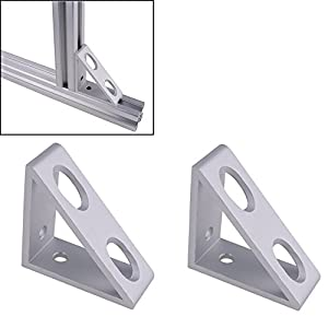 Boeray 2pcs Aluminum Alloy 4 Hole Inside Extrude Corner Gusset Bracket for Aluminum Extrusion with Profile 4040 Series by Boeray