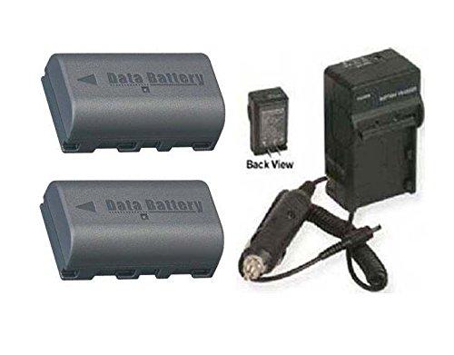 2電池+充電器for JVC gz-ms100r、JVC gz-ms120、JVC gz-ms120au、JVC gz-ms120aua、JVC gz-ms130 B01DLNJWYC