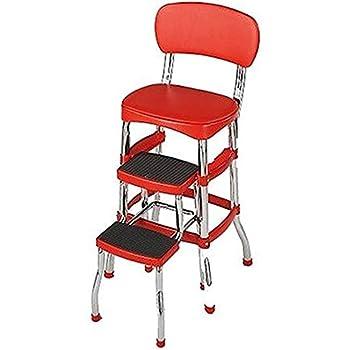 Amazon Com Cosco 11130whte White Retro Counter Chair Step
