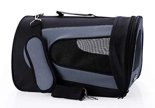 Dog Carrier Soft Sided Pet Travel Carriers Portable Bags for Dogs, Cats and Small Pets, Airline-Approved, Black