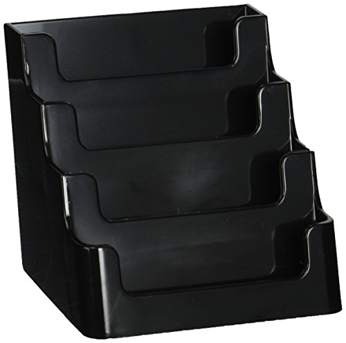 Deflecto Sustainable Office Recycled Business Card Holder Stand, 4 Compartments, Holds 200 2