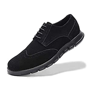 Men's Oxford Sneaker Dress Shoes-Stylish Wingtip Brogue Oxfords Casual Suede Shoes Work Travel Gift