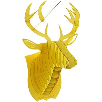 Amazon.com: Deer Head Antler 3D Puzzle Jigsaw DIY Art Paper ...