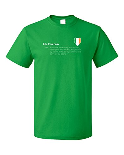 """McFarren"" Definition | Funny Irish Last Name Unisex T-shirt"