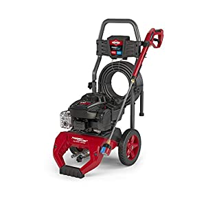 Briggs & Stratton 3100 MAX PSI at 2.1 GPM Gas Pressure Washer with 30-Foot Hose, 7-in-1 Nozzle, and PowerFlow…