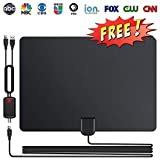 HDTV Antenna, Indoor Digital TV Antenna 120 Miles Range with Newest Amplifier Signal Booster - 4K Local Channels Broadcast for All Types of Smart Television - Updated 2018 Version