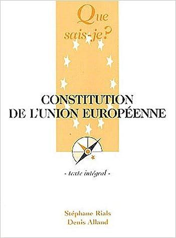 Constitution de l'Union Européenne epub pdf