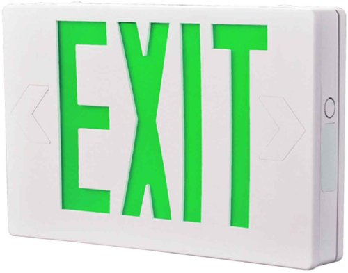ALL-PRO Emergency APX6G AC Only LED Exit Sign, Green Letters