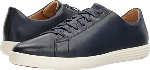 Cole Haan Mens Grand Crosscourt II Navy Leather Burnish 9 W - (Mens Footwear Leather)
