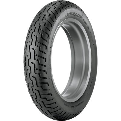 130/90-16 (67H) Dunlop D404 Front Motorcycle Tire Black Wall for Kawasaki Vulcan Classic VN1500 ()