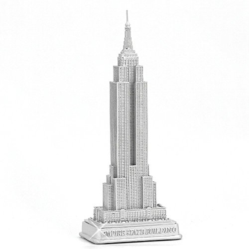 ZIZO USA Empire State Building Statue from New York City Silver 9